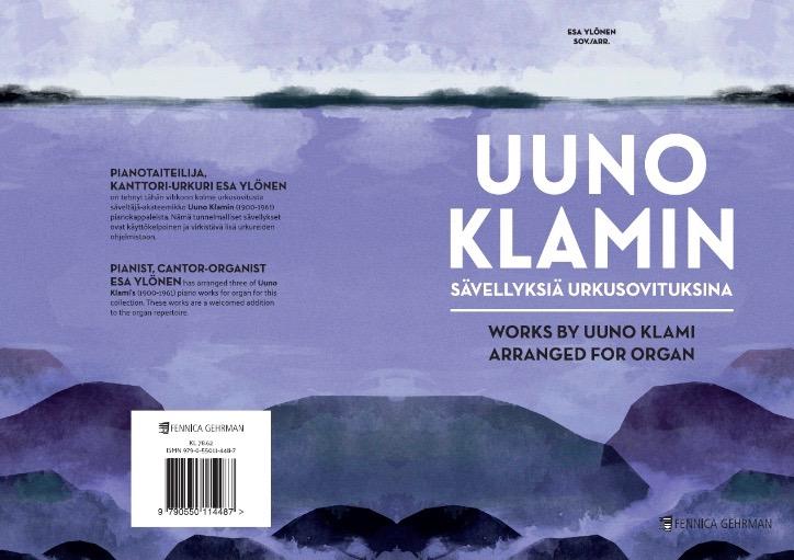 Klamin pianosävellyksistä on julkaistu urkusovituksia